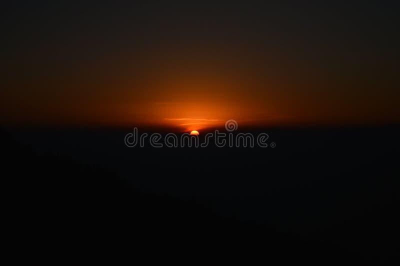 Lever de soleil au zuluk image libre de droits