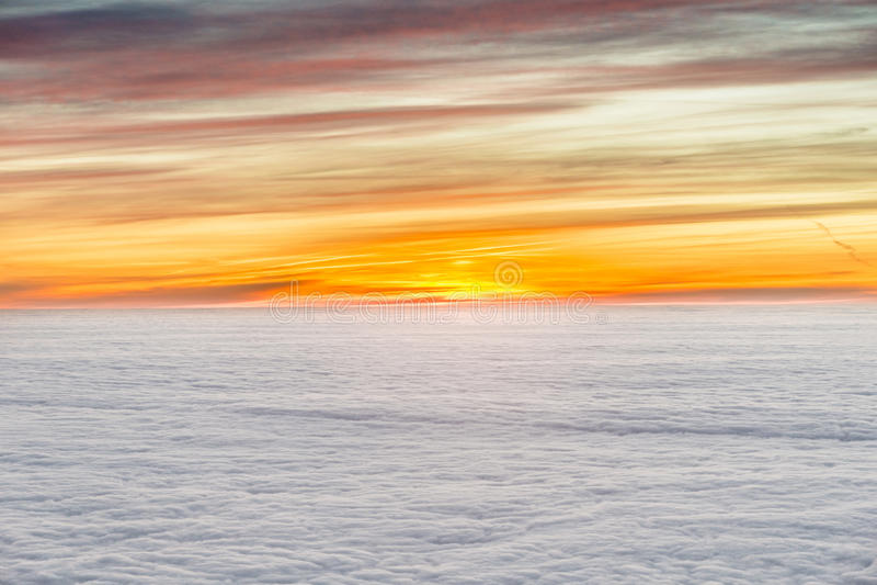 Lever de soleil avec des nuages photo stock