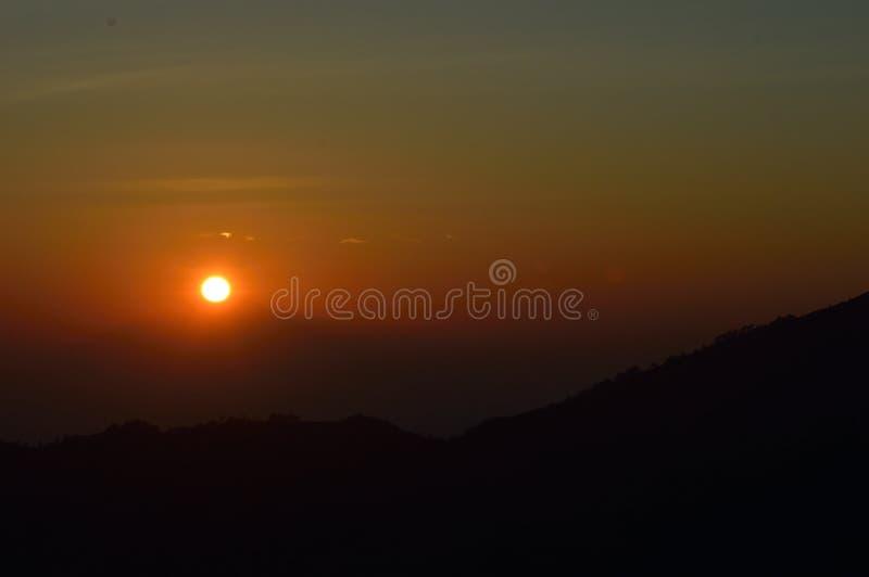 Lever de soleil de Bali image stock