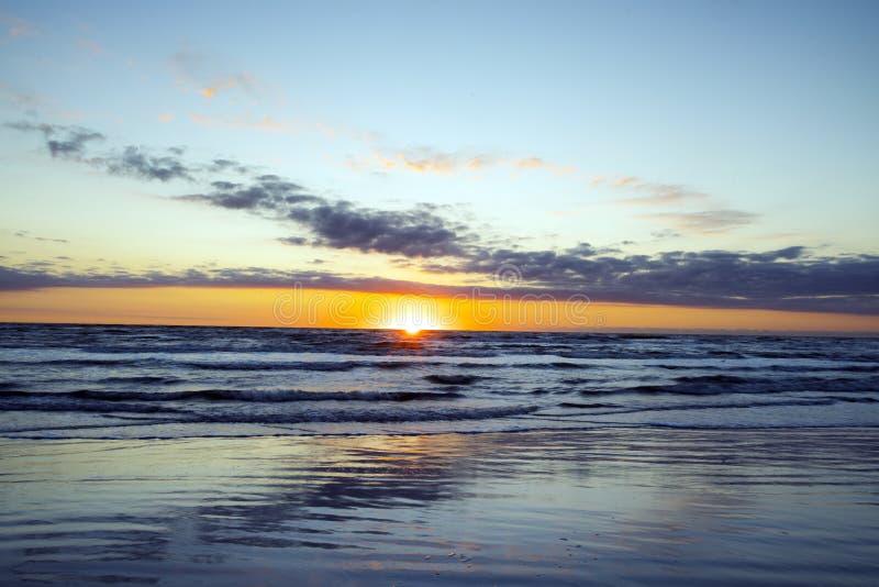 Lever de soleil de bord de la mer national d'île d'aumônier photographie stock libre de droits