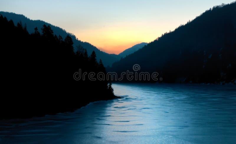 lever de soleil céleste images libres de droits
