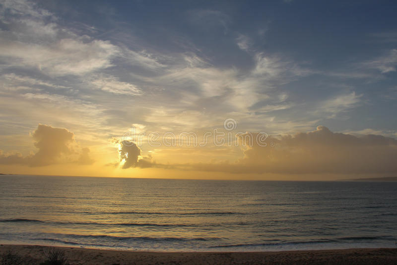 Lever de soleil chez Éden, NSW photo stock