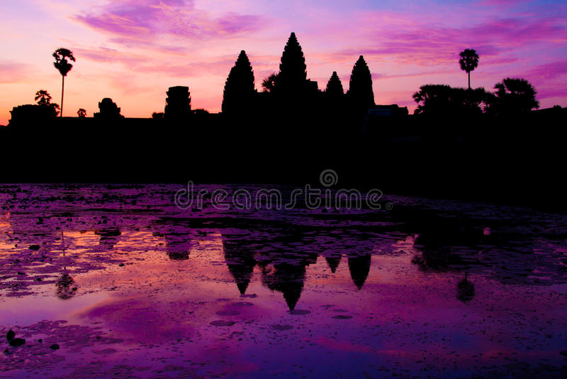 Lever de soleil chez Angkor Wat images libres de droits