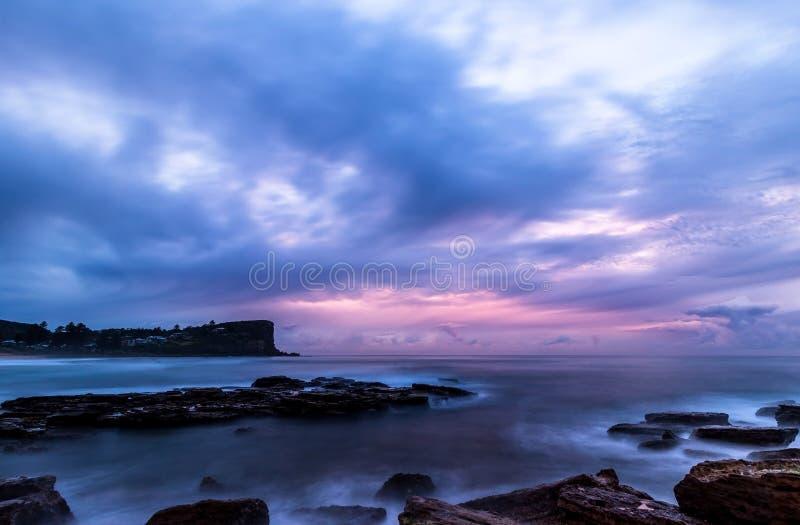 Lever de soleil chez Avalon photographie stock libre de droits