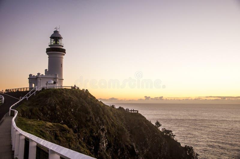 Lever de soleil chez Byron Bay Lighthouse photographie stock libre de droits