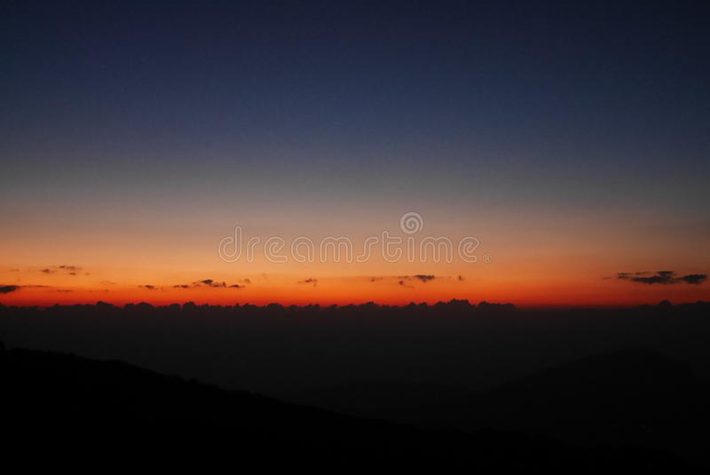 Lever de soleil chez Doi Inthanon image stock