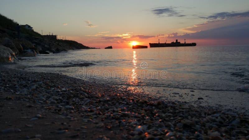 Lever de soleil chez la Mer Noire photo libre de droits