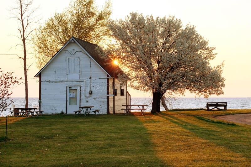 Lever de soleil chez le lac Huron photos stock