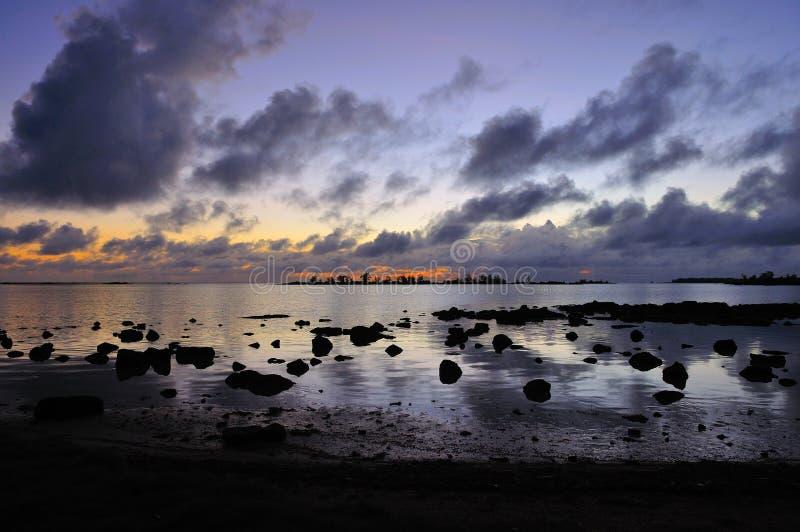 Lever de soleil chez les Îles Maurice image libre de droits