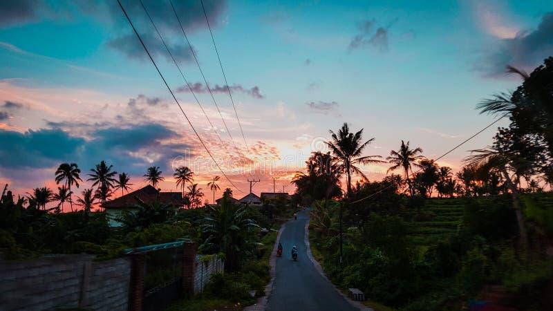 Lever de soleil chez Lombok image libre de droits