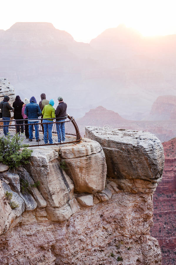 Lever de soleil chez Mather Point, Grand Canyon, Arizona images libres de droits