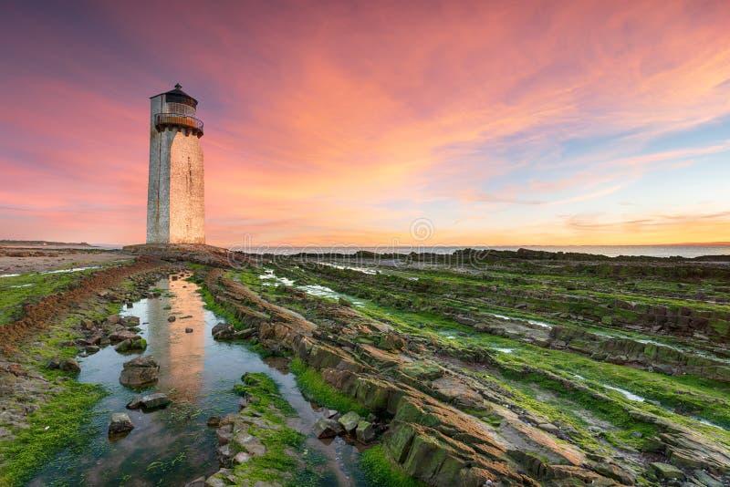 Lever de soleil chez Southerness photographie stock libre de droits