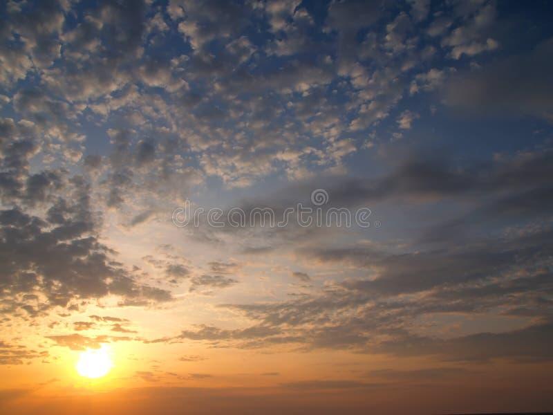 Lever de soleil chez Virginia Beach images libres de droits