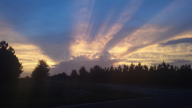 Lever de soleil Cuthbert GA photographie stock