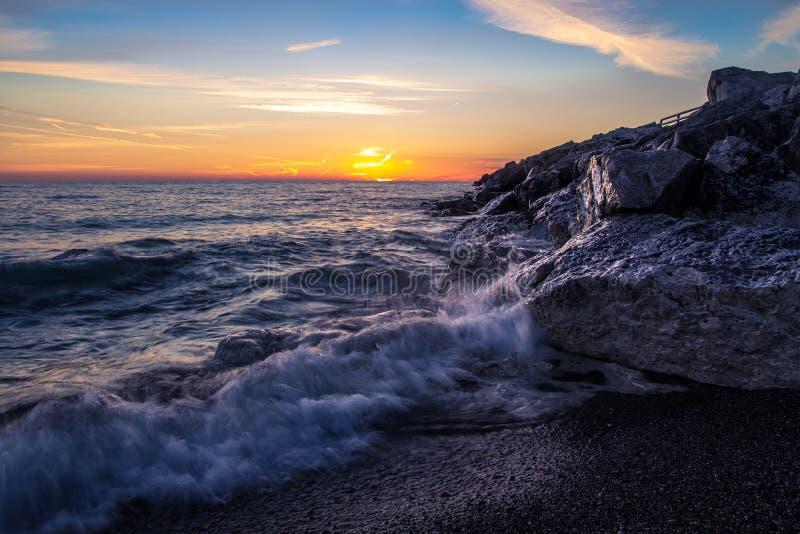 Lever de soleil d'été de Great Lakes image stock