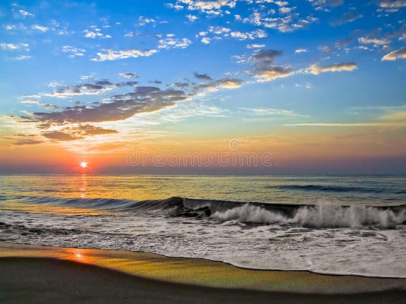 Lever de soleil d'île de Fenwick photo libre de droits