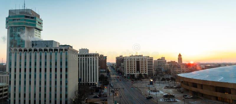 Lever de soleil d'hiver à Wichita le Kansas photographie stock