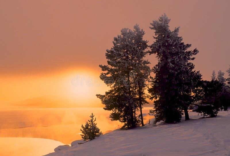 Lever de soleil d'hiver photographie stock