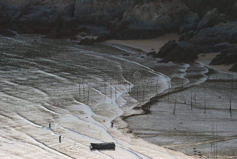 Lever de soleil d'Infertidal Mudflat de Xiapu photos libres de droits