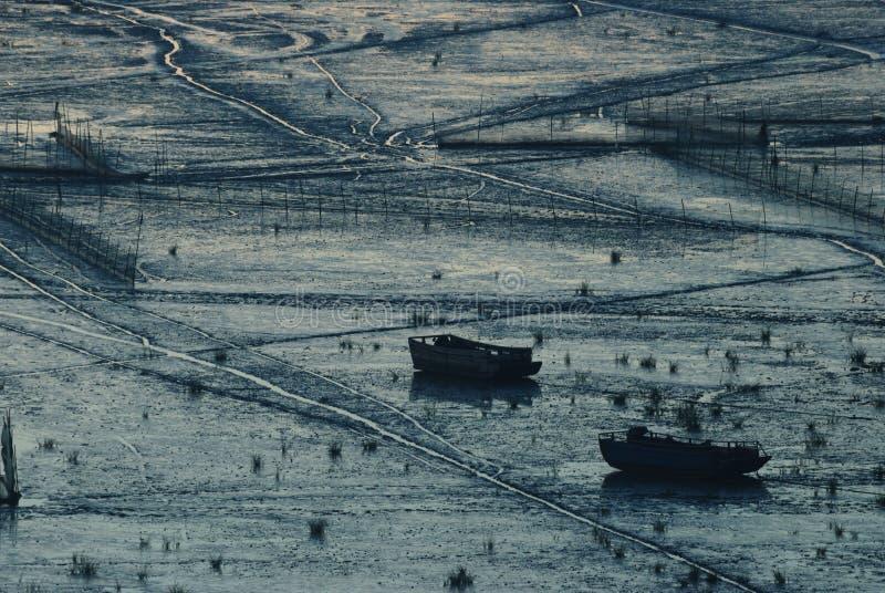 Lever de soleil d'Infertidal Mudflat de Xiapu photo libre de droits