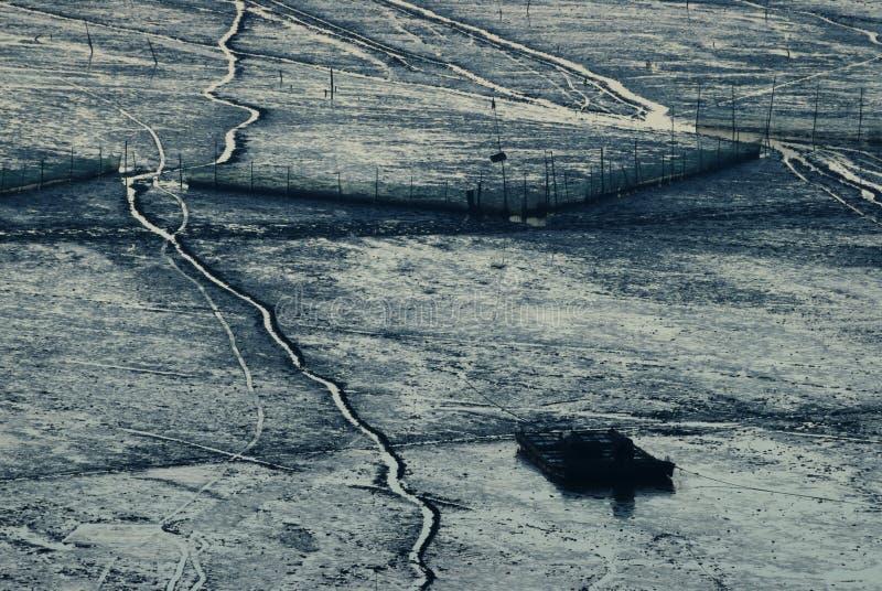 Lever de soleil d'Infertidal Mudflat de Xiapu images libres de droits