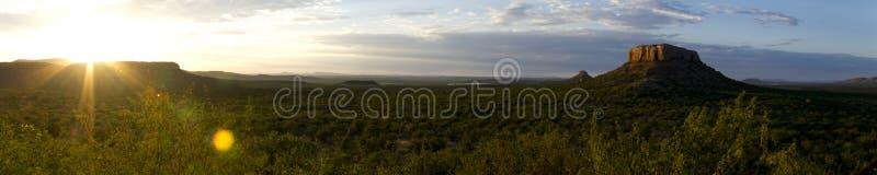 Lever de soleil dans Damaraland image libre de droits