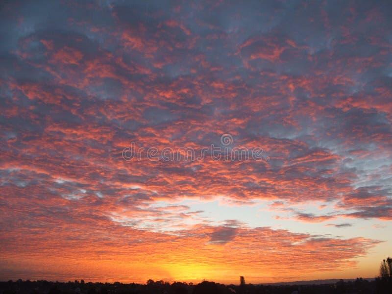 Lever de soleil dans Evesham photo stock