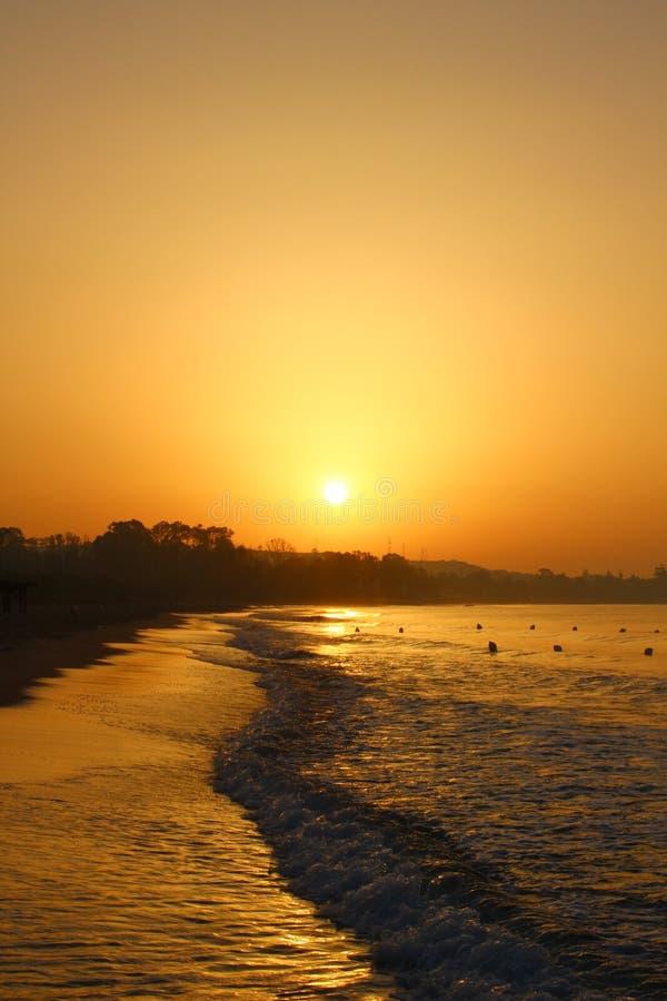 Lever de soleil dans Hammamet, Tunisie photo stock