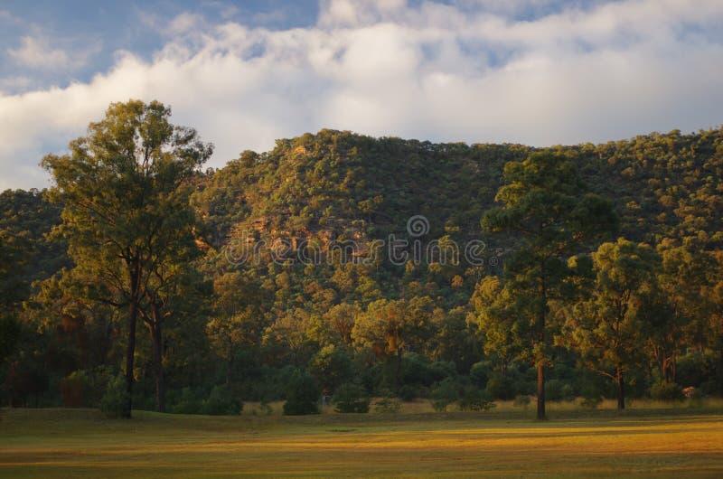 Lever de soleil dans Hunter Valley photographie stock libre de droits