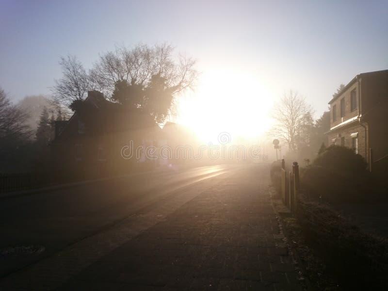 Lever de soleil dans l'eastfrisia photo libre de droits