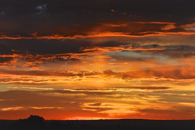 Lever de soleil dans le Colorado photos libres de droits