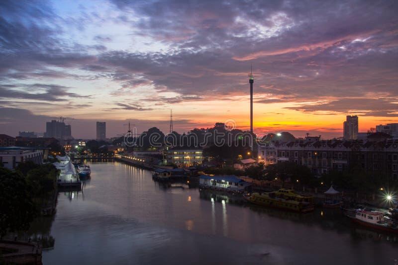 Lever de soleil dans le malasiya photographie stock
