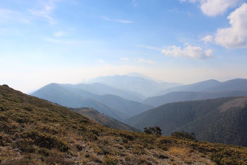 Lever de soleil dans Mt Hotham images libres de droits