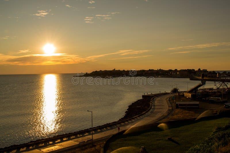 Lever de soleil dans Nessebar photo stock