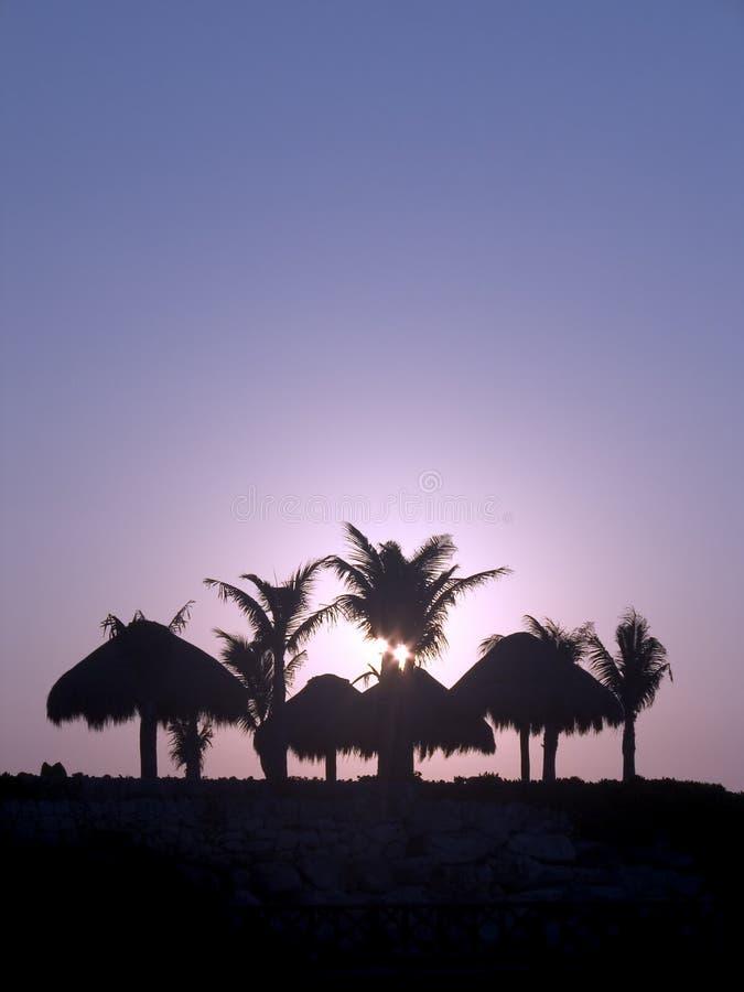 Lever de soleil dans Yucatan images stock
