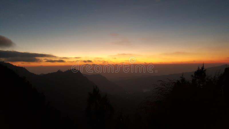 Lever de soleil de bâti Bromo photos stock