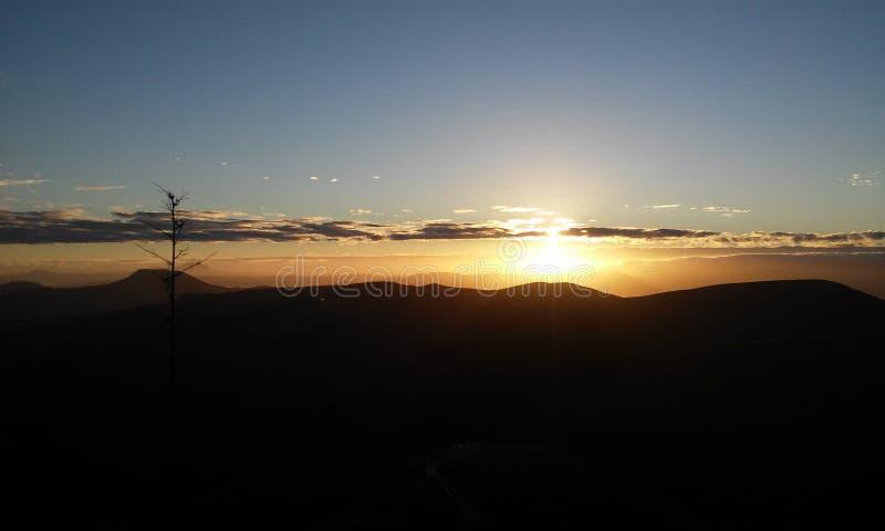 Lever de soleil de Brasilia image libre de droits