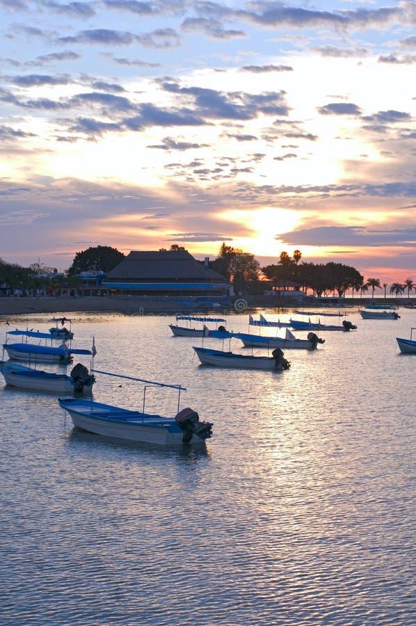 Lever de soleil de Chapala de lac sur Malecon photographie stock libre de droits