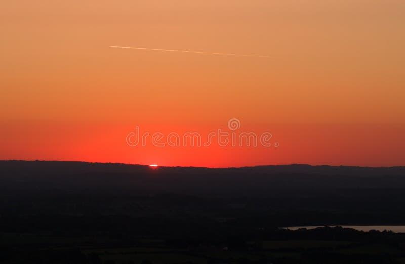 Lever de soleil de colline de piaulement de la BO photo libre de droits