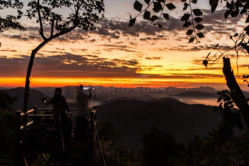 Lever de soleil de coucher du soleil de paysage image stock