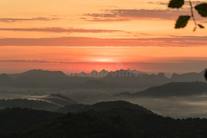 Lever de soleil de coucher du soleil de paysage photos libres de droits