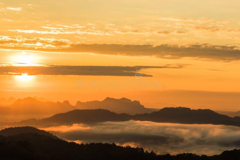 Lever de soleil de coucher du soleil de paysage photo libre de droits