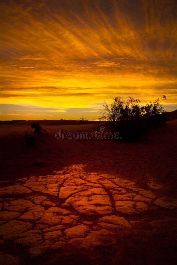 Lever de soleil de désert images stock