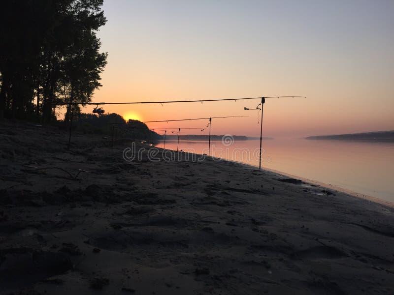 Lever de soleil de Danube photos libres de droits