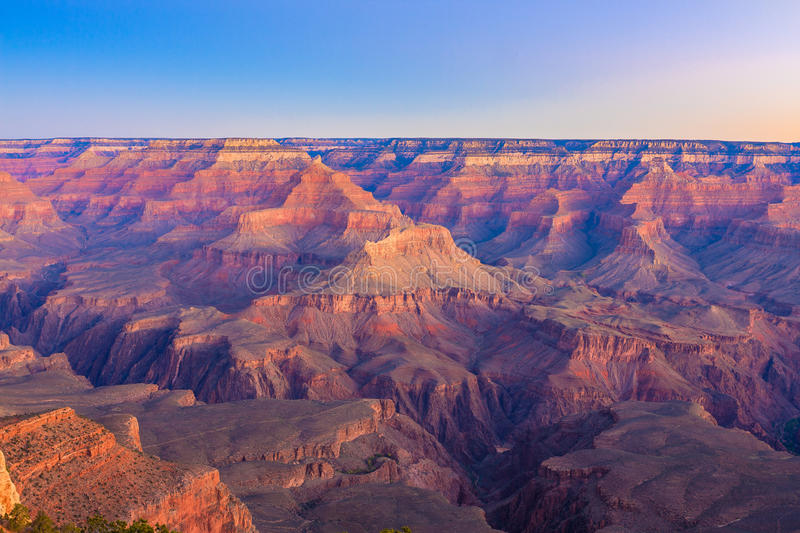 Lever de soleil de Grand Canyon de Mather Point photo libre de droits