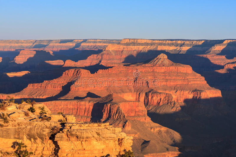 Lever de soleil de Grand Canyon de Mather Point images stock