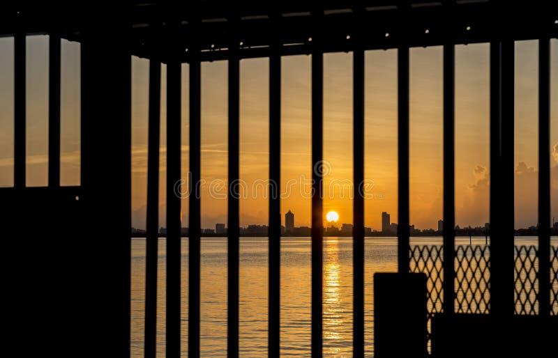 Lever de soleil de la Floride photo libre de droits