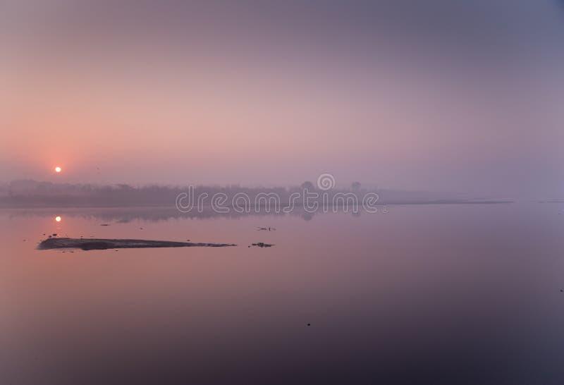 Lever de soleil de la Nouvelle Delhi image stock