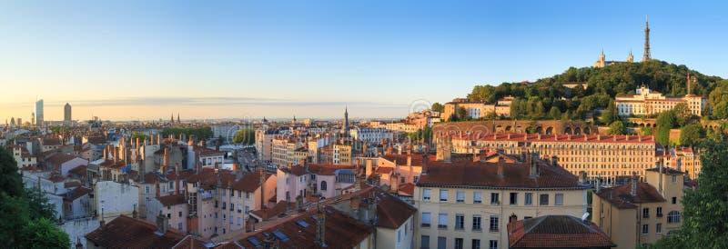 Lever de soleil de Lyon photo stock