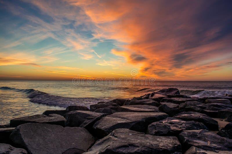 Lever de soleil de Manasquan NJ photo stock